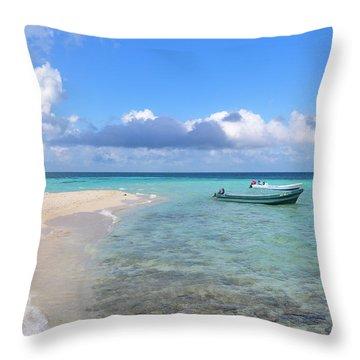 Goff's Caye Island Throw Pillow