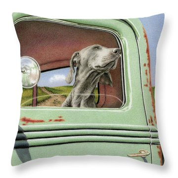 Goin' For A Ride Throw Pillow