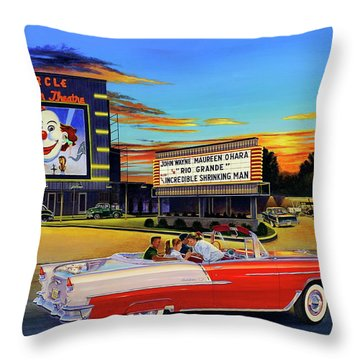 Goin' Steady - The Circle Drive-in Theatre Throw Pillow