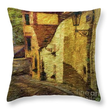 Going Downhill And Round The Bend Throw Pillow
