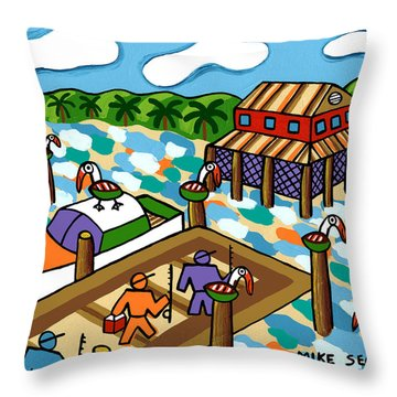 Going Fishing - Cedar Key Throw Pillow
