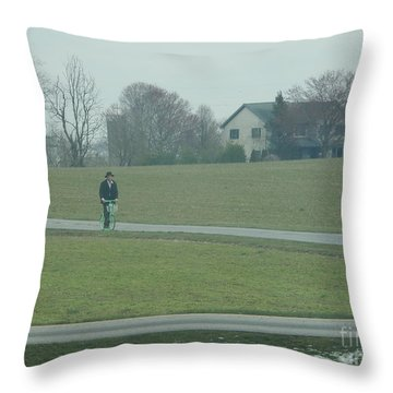 Going For A Visit Throw Pillow