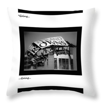 Going Going Gone Throw Pillow by Kenneth Krolikowski