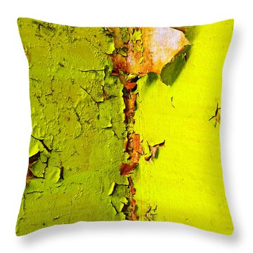 Throw Pillow featuring the photograph Going Green by Skip Hunt