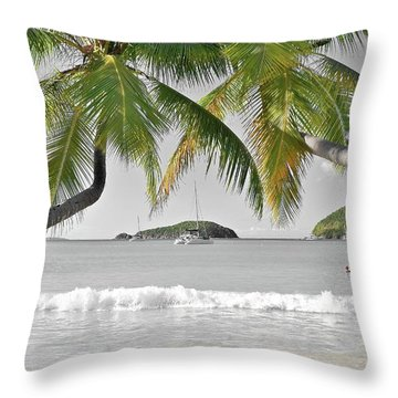 Throw Pillow featuring the photograph Going Green To Save Paradise by Frozen in Time Fine Art Photography