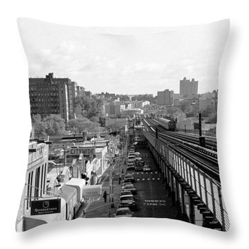 Going Home 4 Train Throw Pillow by Dave Beckerman