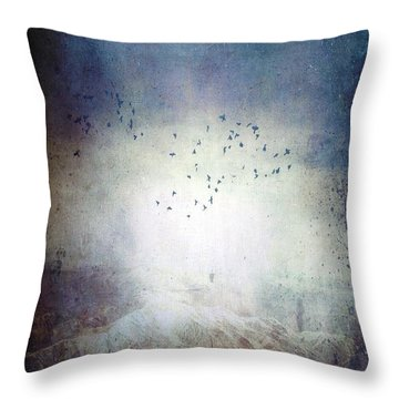 Going Home Throw Pillow by Ann Tracy
