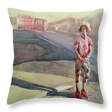 Coming Home Throw Pillow by Becky Kim