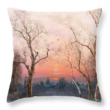 Going Home Throw Pillow by Nils Hans Christiansen