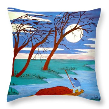 Throw Pillow featuring the painting Going Home by Stephanie Moore