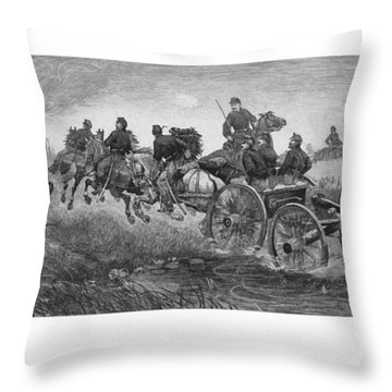 Going Into Battle - Civil War Throw Pillow