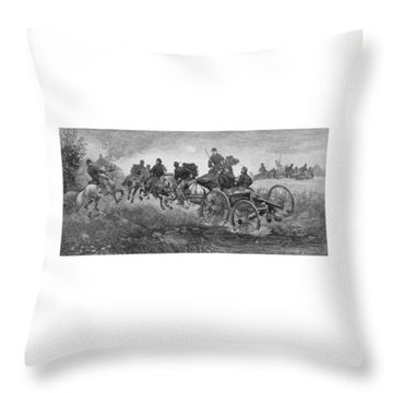 Going Into Battle - Civil War Throw Pillow