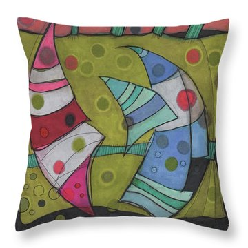 Going In Circles Throw Pillow by Sandra Church