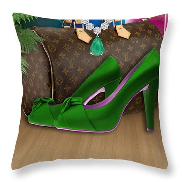 Going Out Throw Pillow