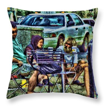 Going Places From Harvard Square Throw Pillow