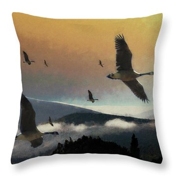 Going South Throw Pillow by John Stuart Webbstock