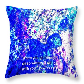 Going Through Deep Waters Throw Pillow by Hazel Holland