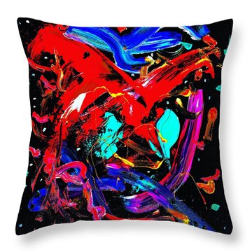Living Heart Throw Pillow