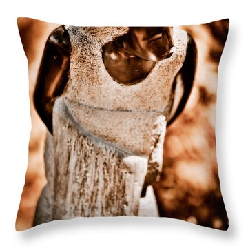 Going To Bathe My Baby Throw Pillow by Venetta Archer