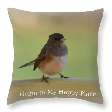 Going To My Happy Place Throw Pillow