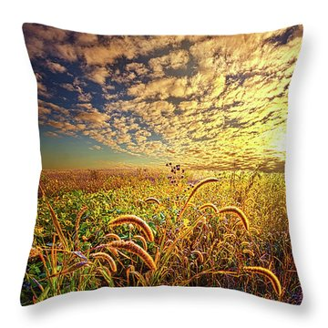 Going To Sleep Throw Pillow