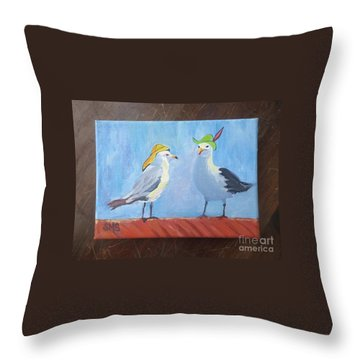 Going To The Hat Parade Throw Pillow