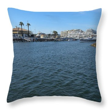 Going To The Marina Of Vilamoura - Algarve Throw Pillow by Angelo DeVal