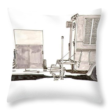 Going To The Races Throw Pillow