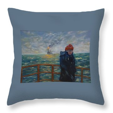Going To Work Throw Pillow by Douglas Ann Slusher