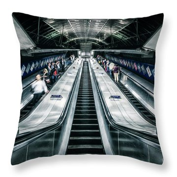 Going Underground Throw Pillow