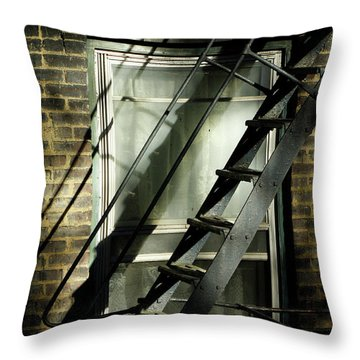 Going Up Throw Pillow