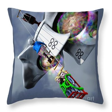 Throw Pillow featuring the painting Going Up by Dave Luebbert