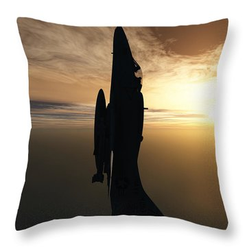 Going Vertical Throw Pillow by Richard Rizzo