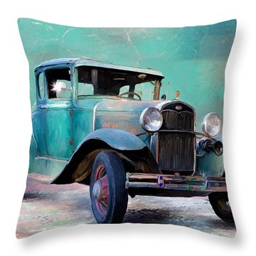 Going Visiting Throw Pillow