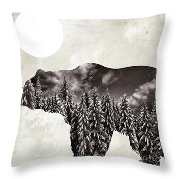 Going Wild Bear Throw Pillow