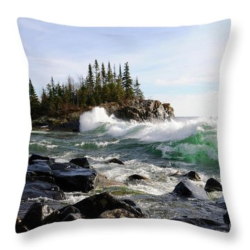 Going Wild Throw Pillow by Sandra Updyke