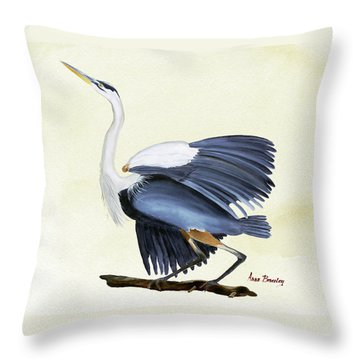 Throw Pillow featuring the painting Going With The Wind by Anne Beverley-Stamps
