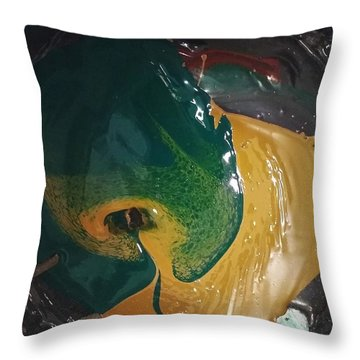 Gojira Basking By The Docks In Delhi Throw Pillow