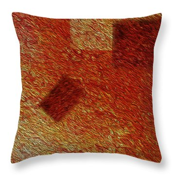 Gold 1 Throw Pillow