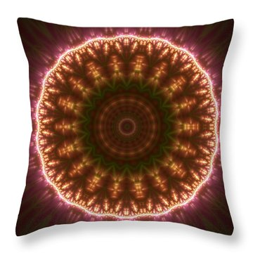 Gold 3 Throw Pillow