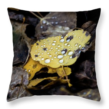 Gold And Diamons Throw Pillow