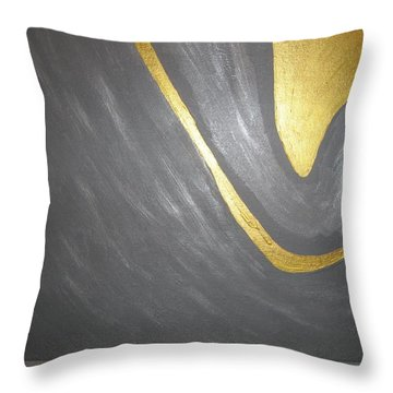 Gold And Gray Throw Pillow