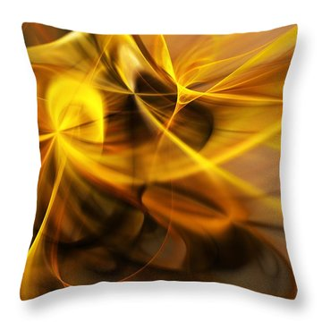 Gold And Shadows Throw Pillow by David Lane
