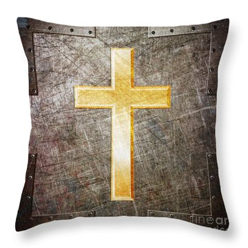 Gold And Silver Throw Pillow