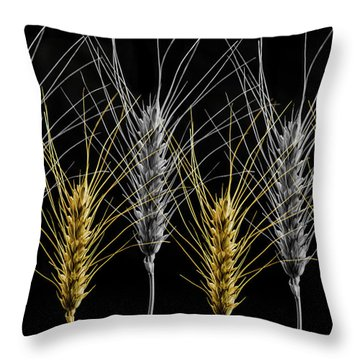 Gold And Silver Wheat Throw Pillow