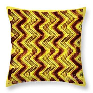 Gold Bar Throw Pillow
