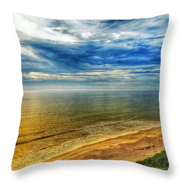 Gold Beach  Throw Pillow