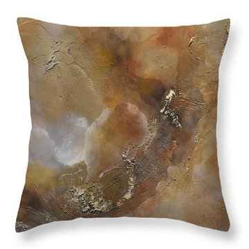 Throw Pillow featuring the painting Gold Bliss by Tamara Bettencourt