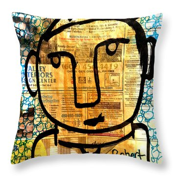 Gold Boy Draftsmen Throw Pillow