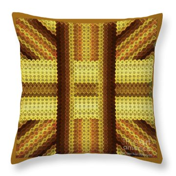 Gold C Throw Pillow